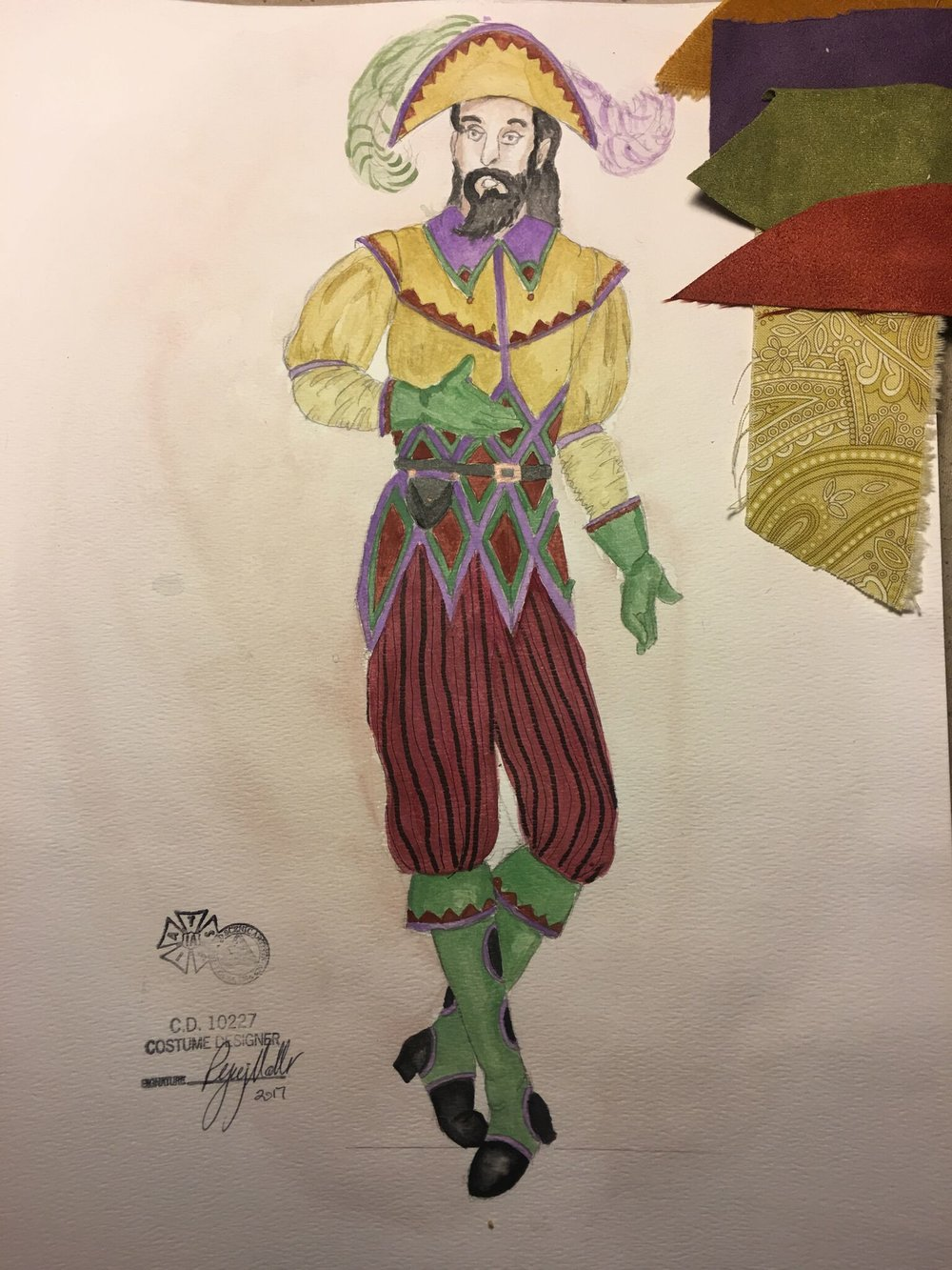 Sketch for Clopin