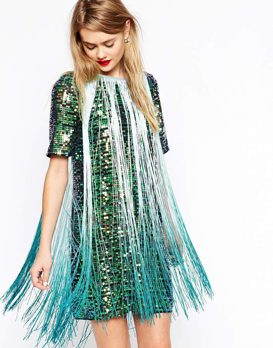 Sequin Fringe Dress ASOS $142.13