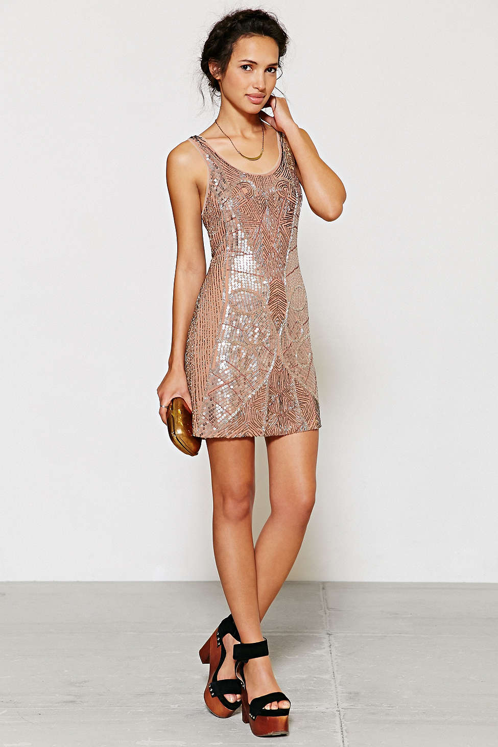 Beaded Mini Dress URBAN OUTFITTERS $350