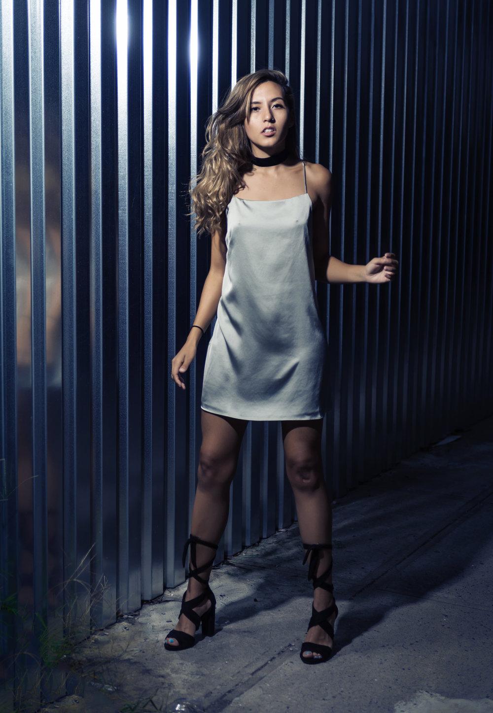 Silver Slip Dress