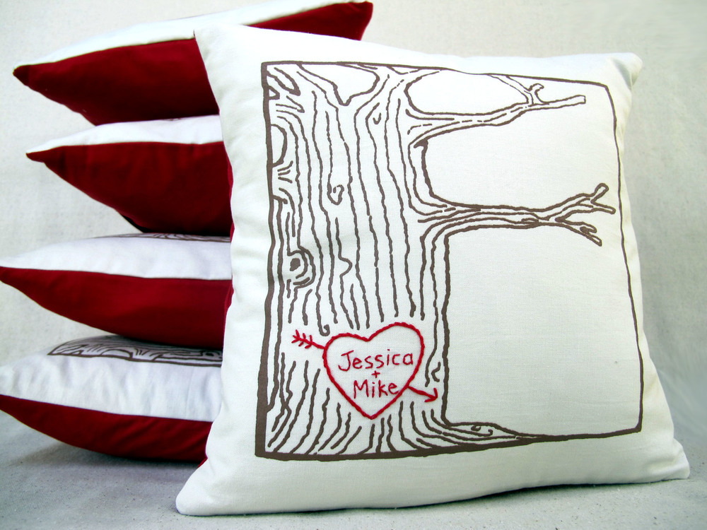 tree print pillow