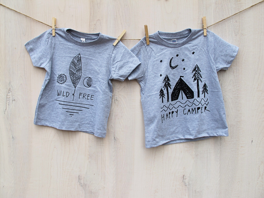 summer 2015 tees - wild & free, happy camper