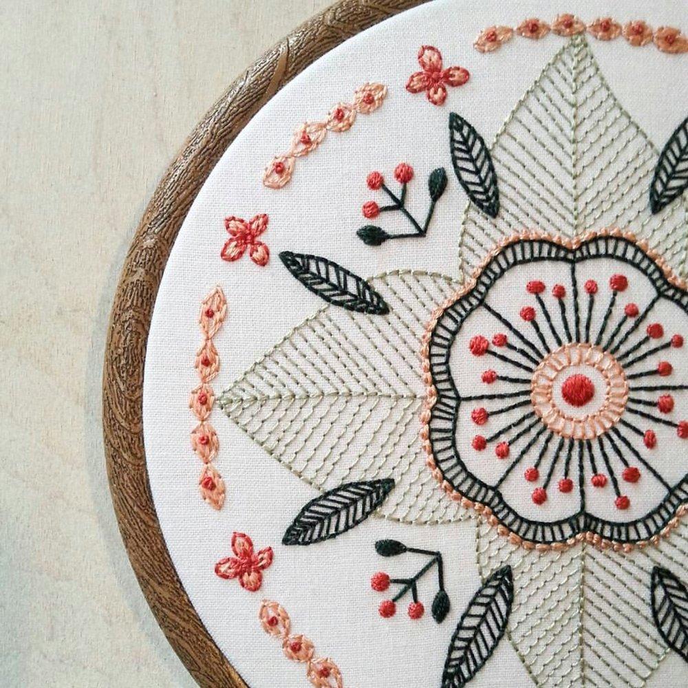 september | floral mandala
