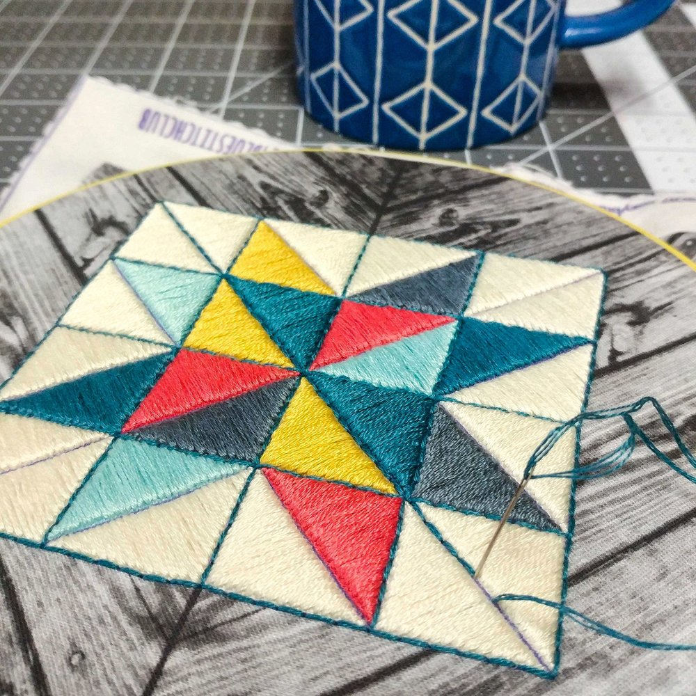 august :: barn quilt