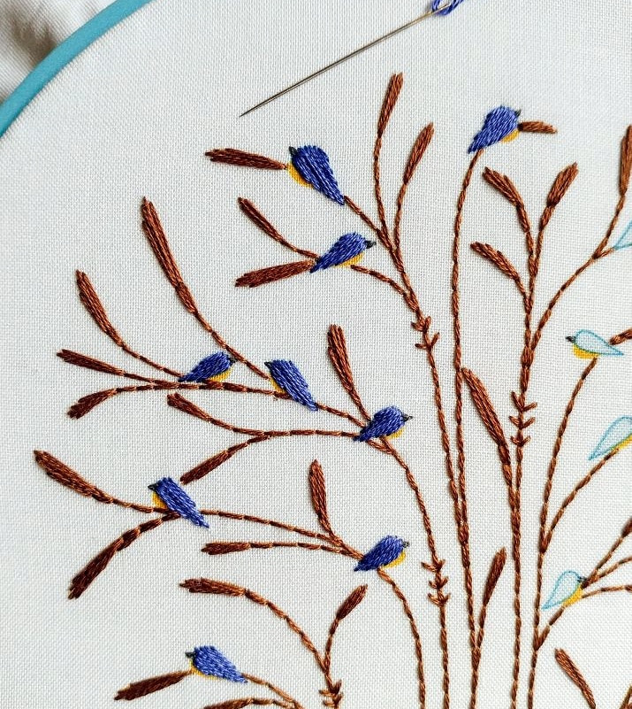 september :: fall bluebirds