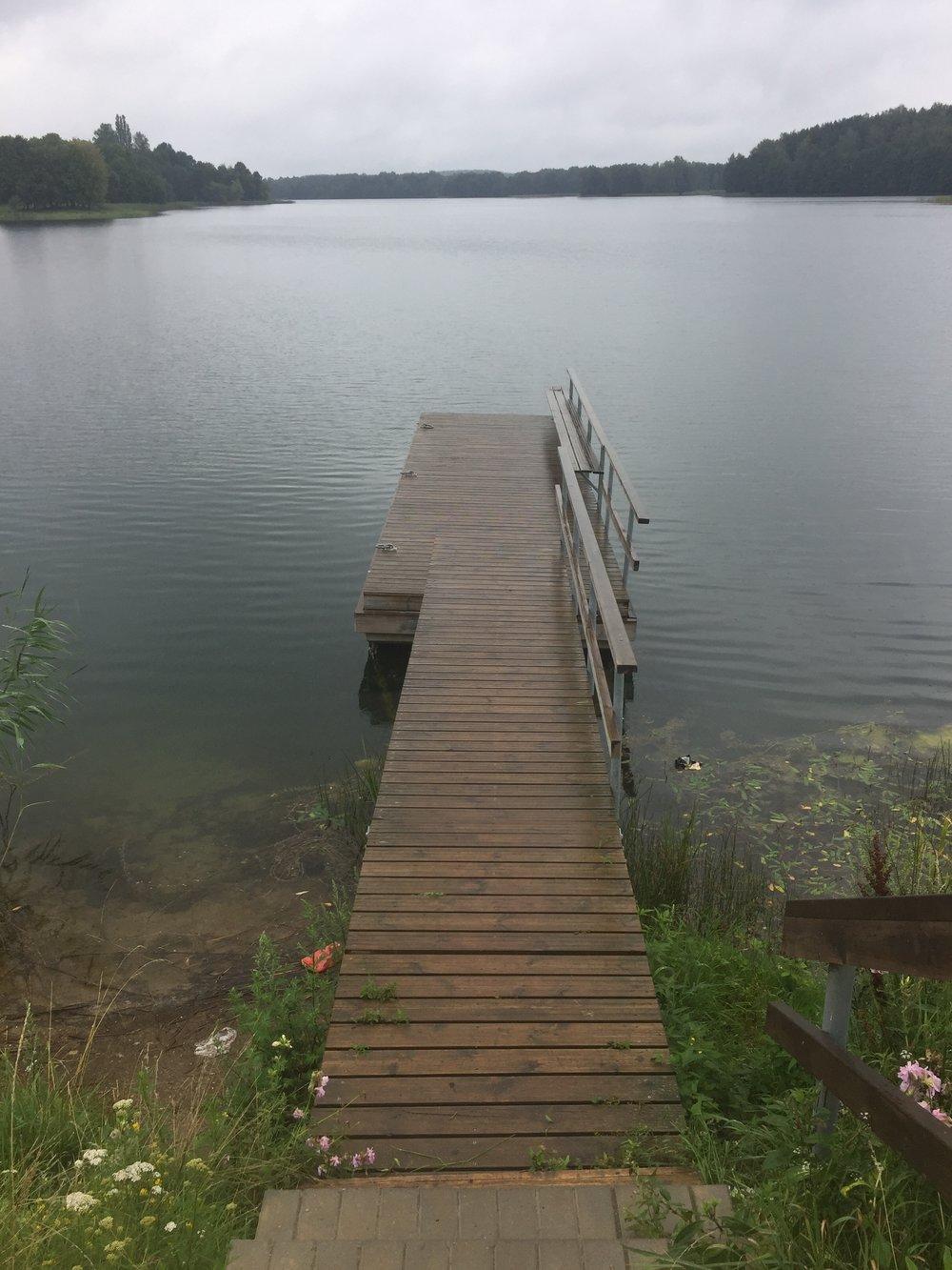 Uno de los lagos de Trakai
