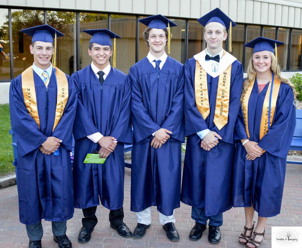 2016 Qualified Northport Promise Scholarship Graduates! left to right: marcus stowe, Eli cobb, hunter kellogg, caleb brown, morgan collins. Photo by Dan Duffiney
