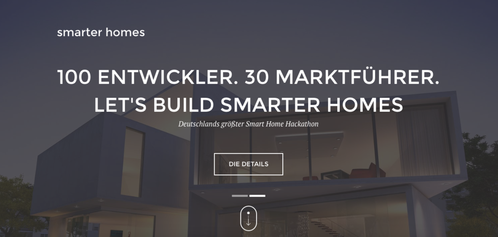 Website des Smart Home Hackathons