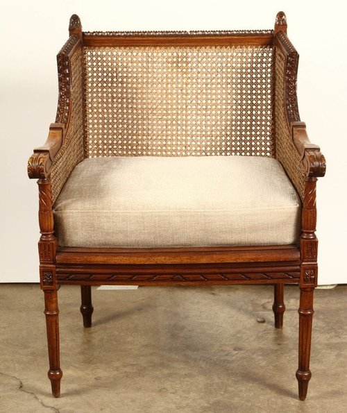 French Cane Chair french cushioned cane chair — susanne hollis