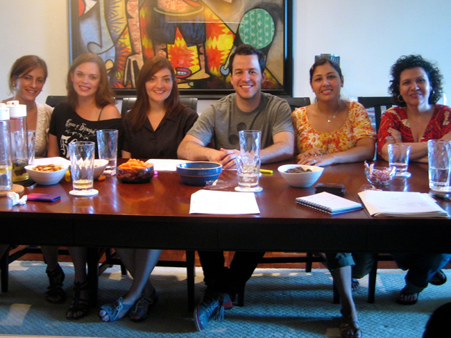 "After our table read for ""Vivienne Again"""
