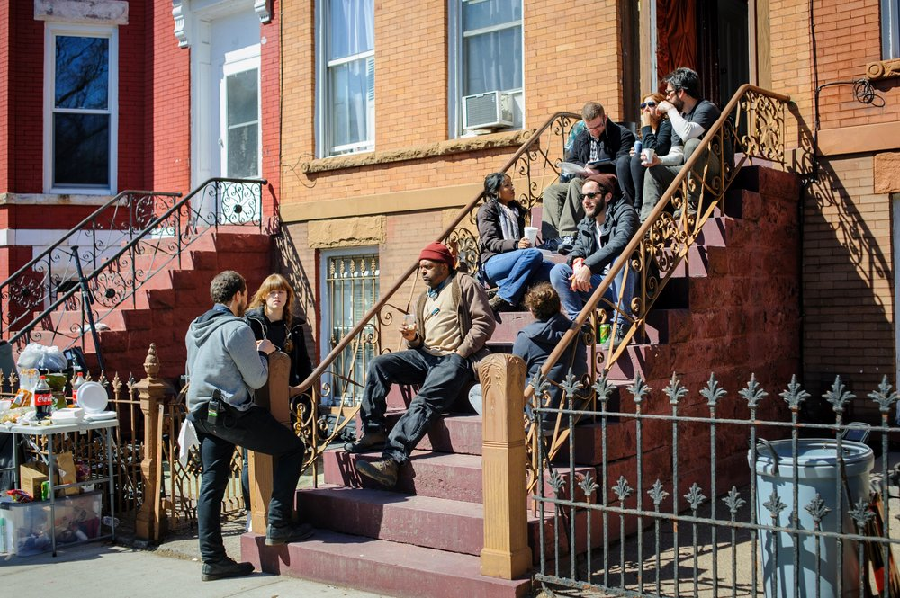 Crew lunch on location in Brooklyn, NYC, shooting 'The End of Mara' | Photo: Nicholas J Coleman