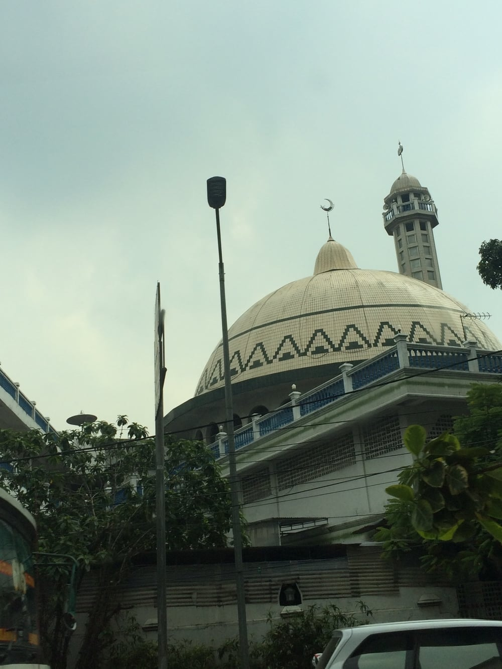 A not so great picture of a Mosque in Jakarta