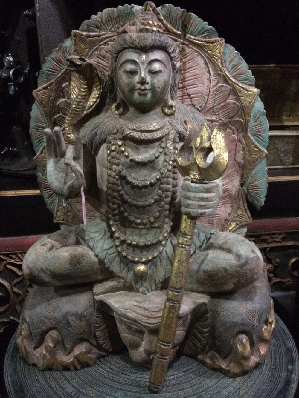 There are such cool statues and masks everywhere. This is Shiva from Yogyakarta