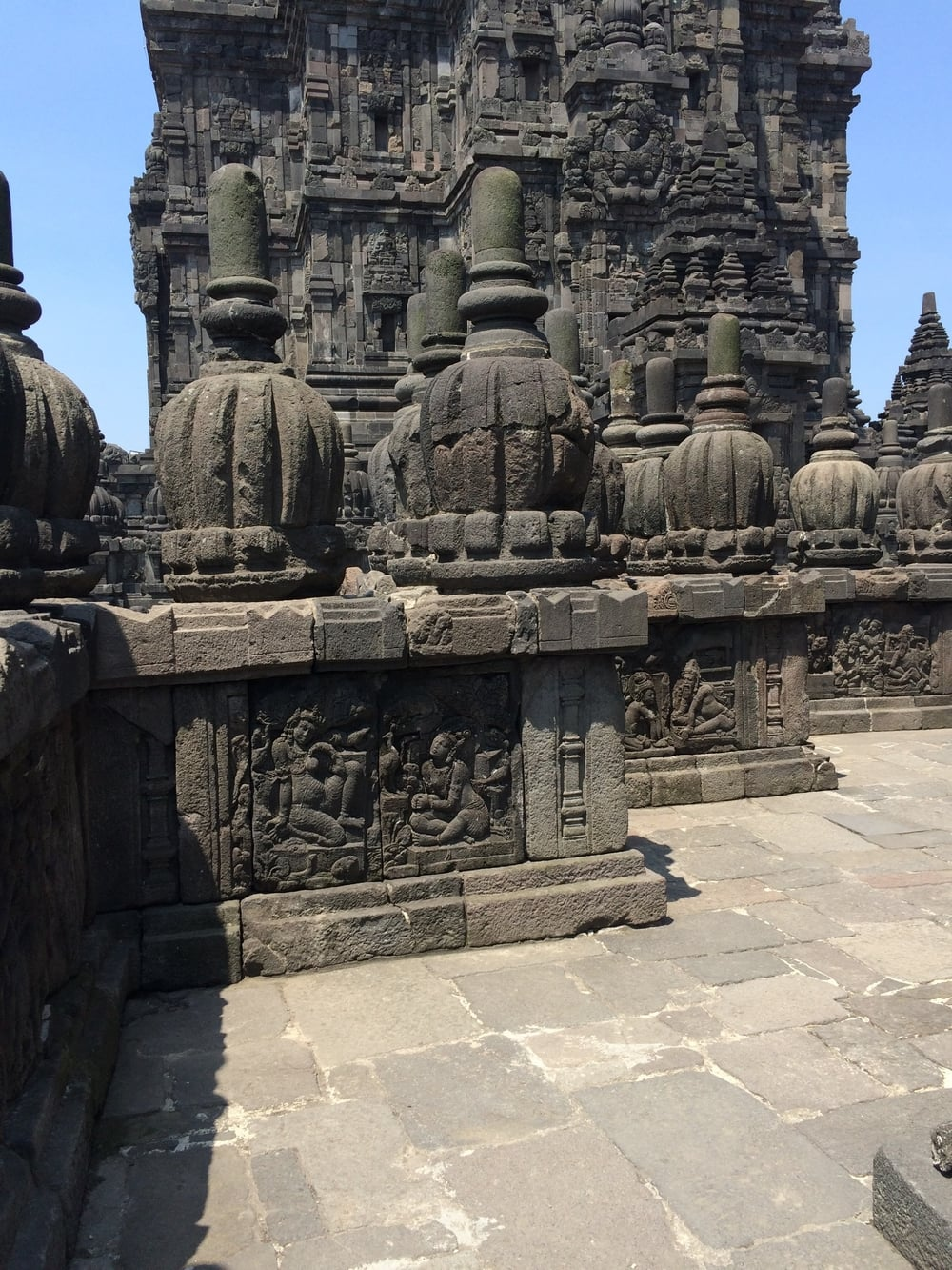 The Ramayana Epic (which i LOVE) is carved in the stone around Brahma and Shiva's temples.