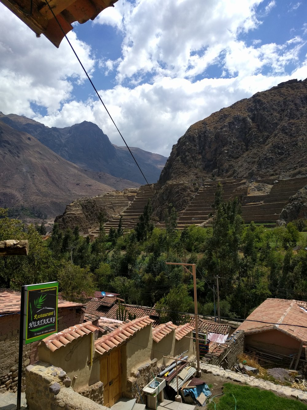 View from Ollantaytambo room
