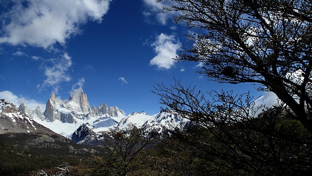 El Fitz Roy. Situatal límit fronterer entre Xile i Argentina, a la zona de la Patagònia