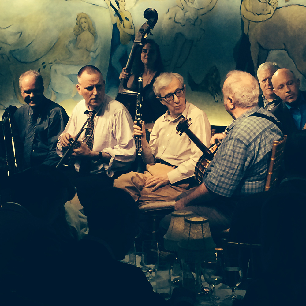 Woody Allen & The Eddy Davis New Orleans Jazz Band. New York. Septembre 2014. Iphone 5S.