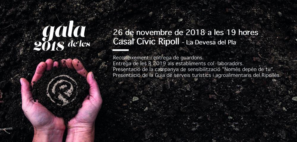 Invitación Gala de les R 2018.