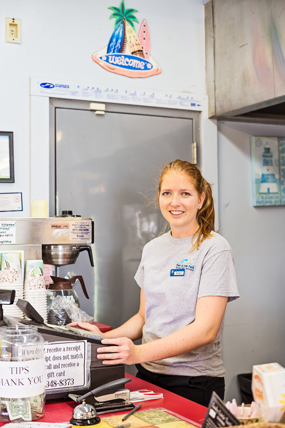 The Bay Pier also includes a small bait and tackle shop. This shop includes a small snack area as well as other items you may need for your day at the pier or beach. Kayla Burrows has worked at the shop for the past 8 years. She has a wealth of knowledge on the local fish in the area. It is a family affair as her mother is the manager at the gift shop.