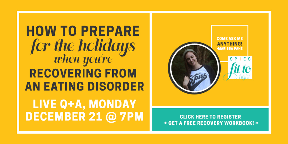 4 quick tips to help make it through the holiday season with an eating disorder