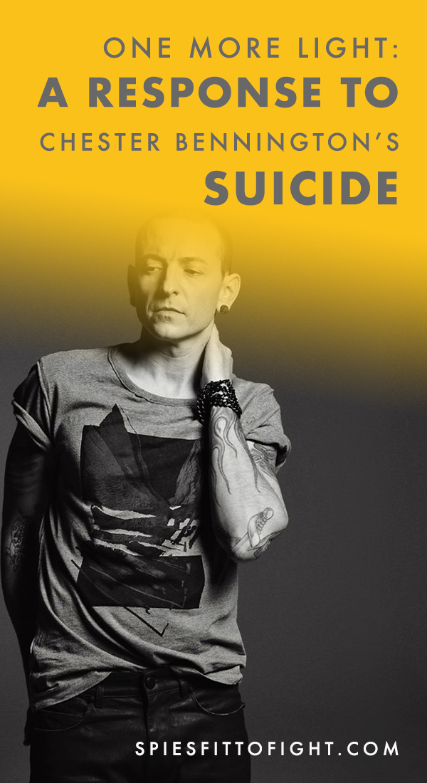 I understand the pain, I understand being numb, I understand the feeling of no release, I understand what it feels like to be on the edge about to break, but I never allowed myself to truly break.  Today, Chester Bennington, you broke.   Your music has helped get me through some of the toughest times of my life. And your lyrics felt like home to so many of us battling depression and suicidal thoughts. But, I don't think it ever occurred to us, or at least to me, that the reason we all resonated so well with the words you sang was because you too were suffering.