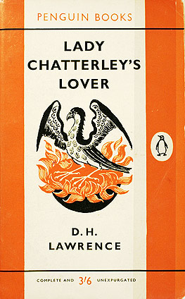 Penguin's 1960 paperback edition of  Lady Chatterley's Lover .