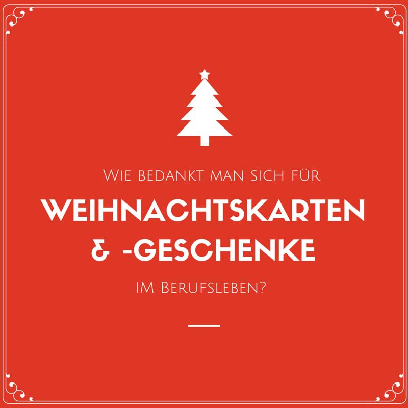 Wie bedankt man sich für Weihnachtskärtchen und Weihnachtsgeschenke ...