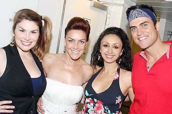 Heidi Blickenstaff, Andrea McCartle, Cheyenne Jackson on the Rosie Cruise