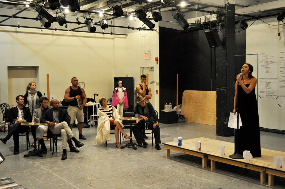 rehearsing MEASURE FOR MEASURE at The Shakespeare Theatre