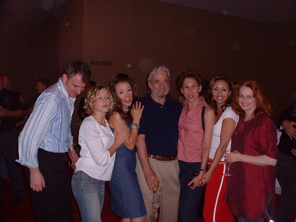 At the Kennedy Center with Doug Sills, Kristen Bell, Stephen Sondheim, Randy Graff, Blair Brown, and Sarah Berry after A LITTLE NIGHT MUSIC
