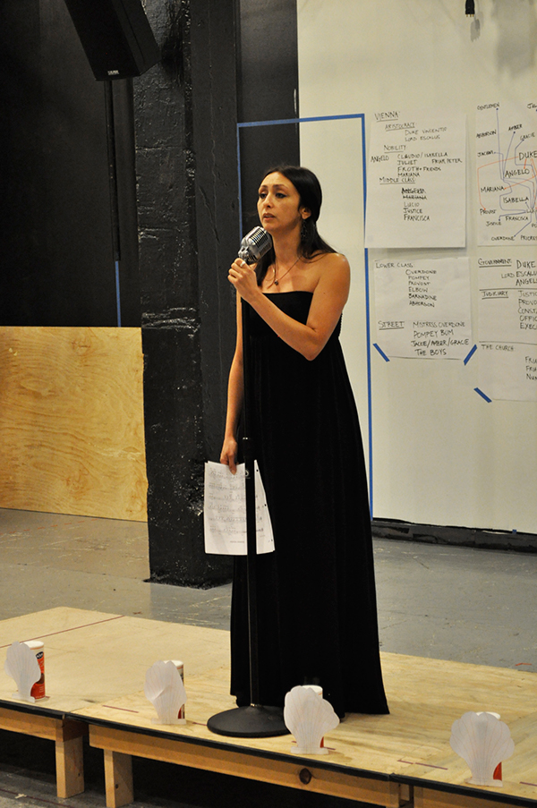 As MARIANA, rehearsing MEASURE FOR MEASURE