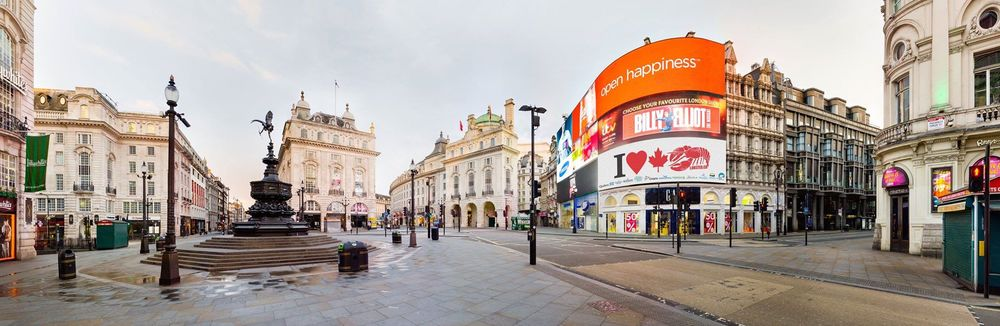 "Piccadilly Circus, London England. Patrick first met his wife Malgorzata ""Maggie"" around the corner @ Starbucks. Malcolm, Nina and the Lobster.ca dream grew from there."