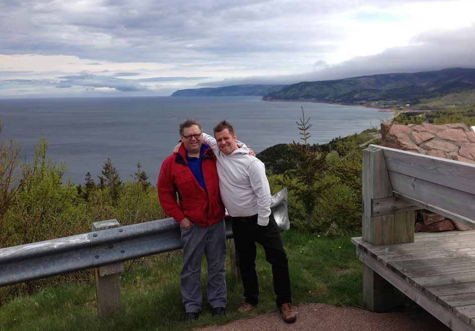 Teddy B and Swim on The Cabot Trail 2014