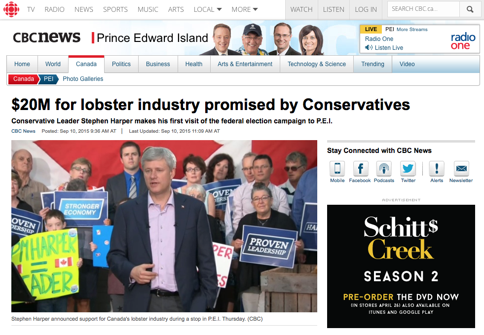 Spread over three years, the lobster industry investment would be split into $15 million for marketing and promotion and $5 million for research to inform decisions on fishing seasons, licences and harvesting.