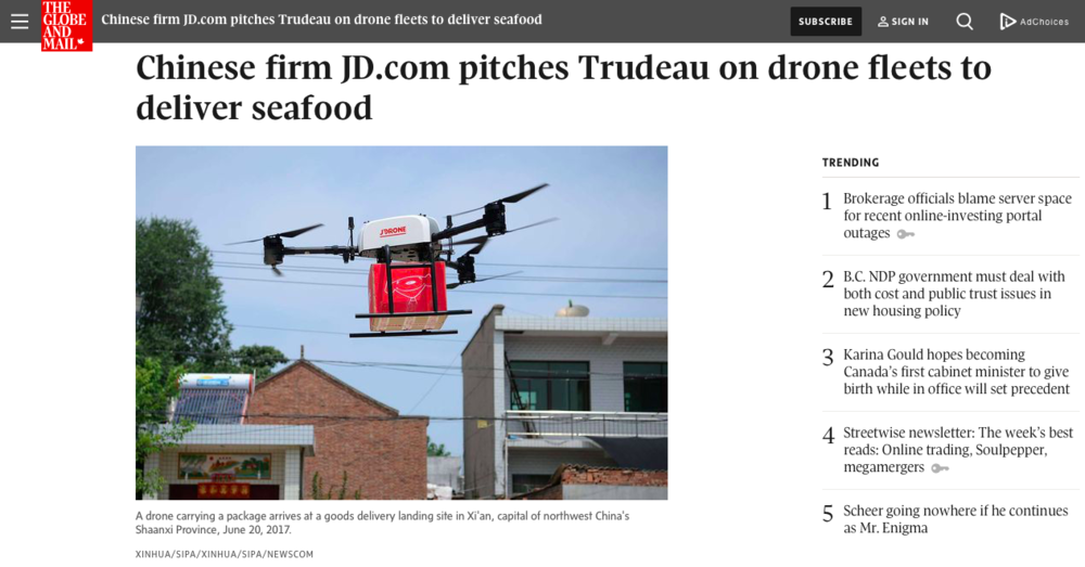 JD.com Trudeau