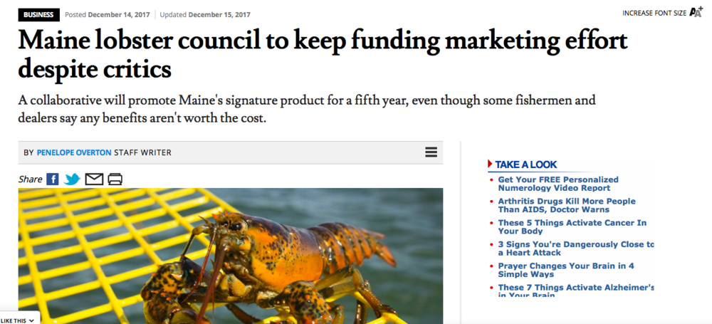 Maine Lobster Marketing