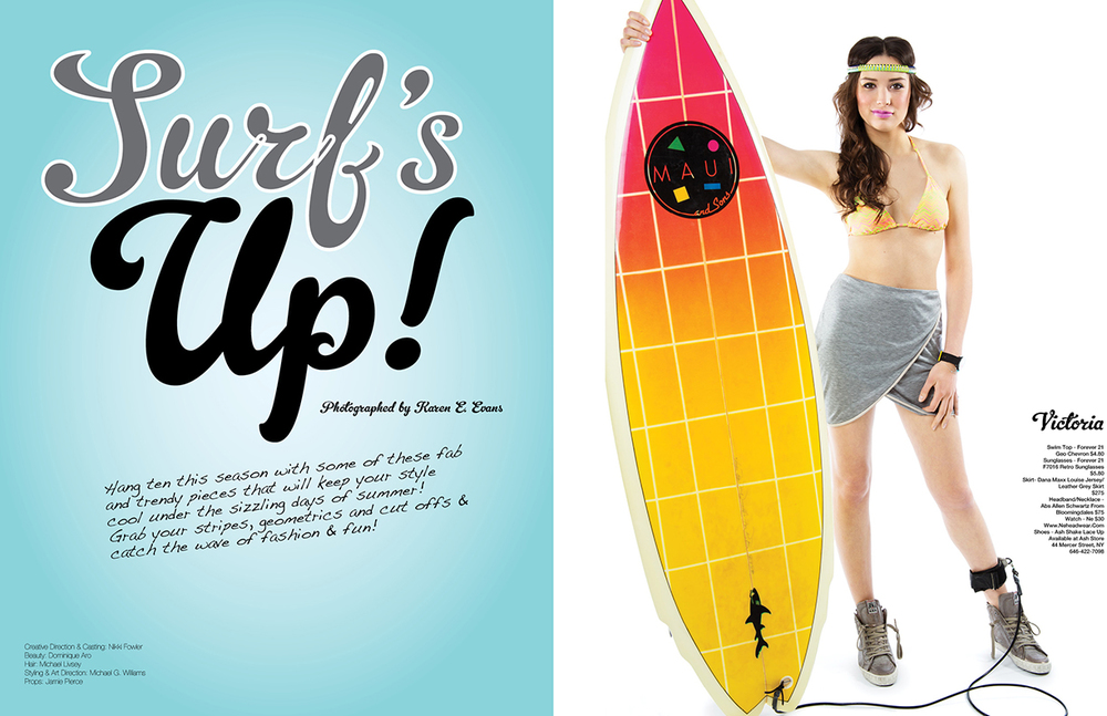 Surf's UP!, Glitter Magazine