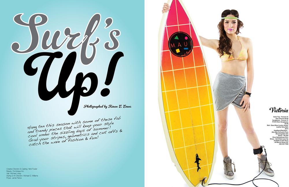 Surf's UP!, Glitter Magazine
