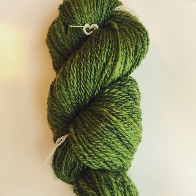 Second handspun ever! 2-ply BFL