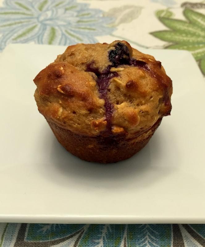HealthierOatmeal Blueberry muffins
