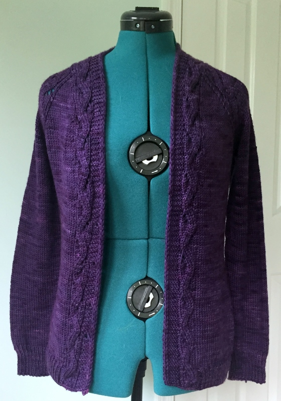 Lady Sunnyside cardigan. Pattern by Tanis Lavallee.
