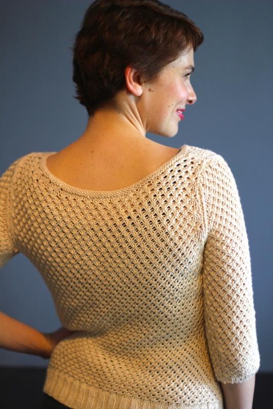 Annapolis pullover pattern by Kristen Jancuk, MediaPeruana Designs