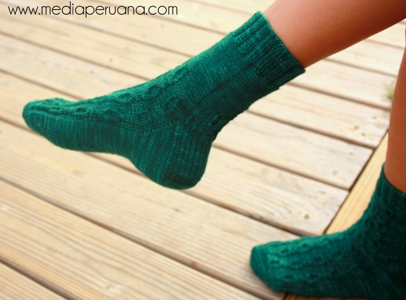 Pisac sock knitting pattern by Kristen Jancuk, MediaPeruana Designs