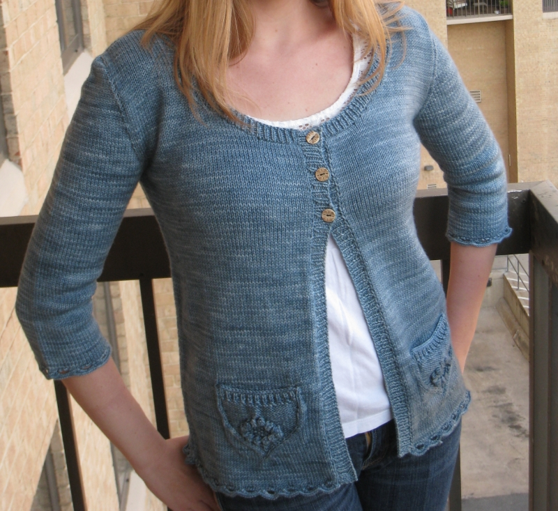 My Wildflower Cardigan, knit in Madelinetosh Tosh Sport, looks as good today as the day this photo was taken!