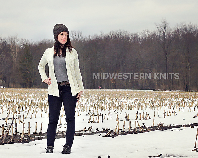 Blowing Snow Cardigan by Emily Ringelman,  Midwestern Knits