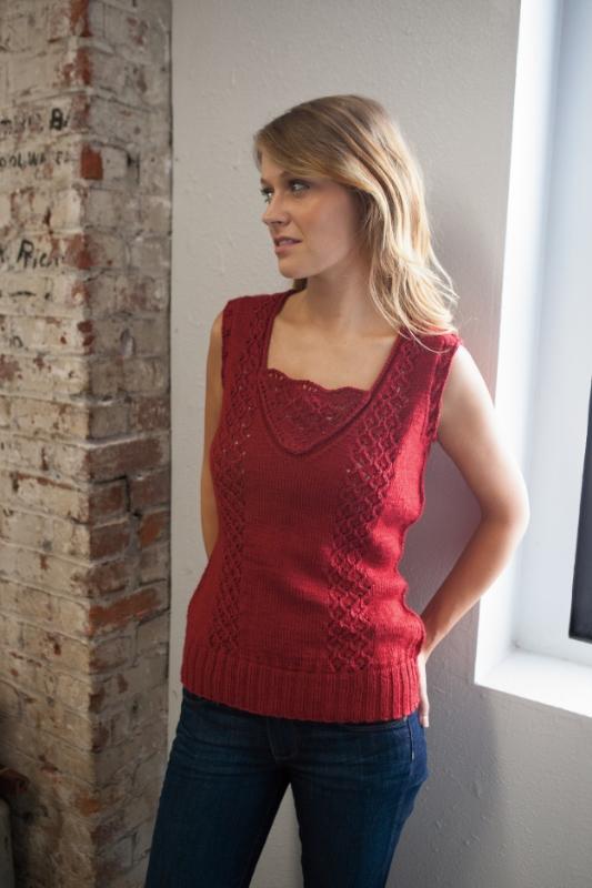 Penny vest knitting pattern by Kristen Jancuk, MediaPeruana Designs