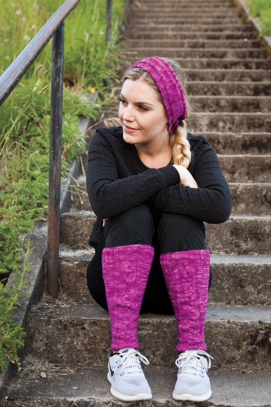 Patapsco Legwarmers and Headband knitting pattern set by Kristen Jancuk, from Knit Picks On the Go Knits collection