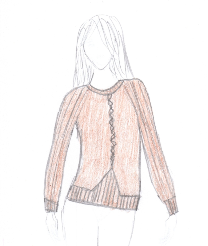 Original sketch, as a pullover