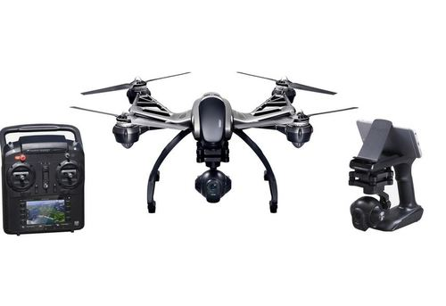 Yuneec Typhoon 4k - Personal Ground Station with built-in touchscreen, Integrated 3-axis precision gimbal camera4K/30fps ultra high definition video, 1080p/120fps slow motion videoUser controlled video resolution, white balance and light exposure12 megapixel photos with No-Distortion Len