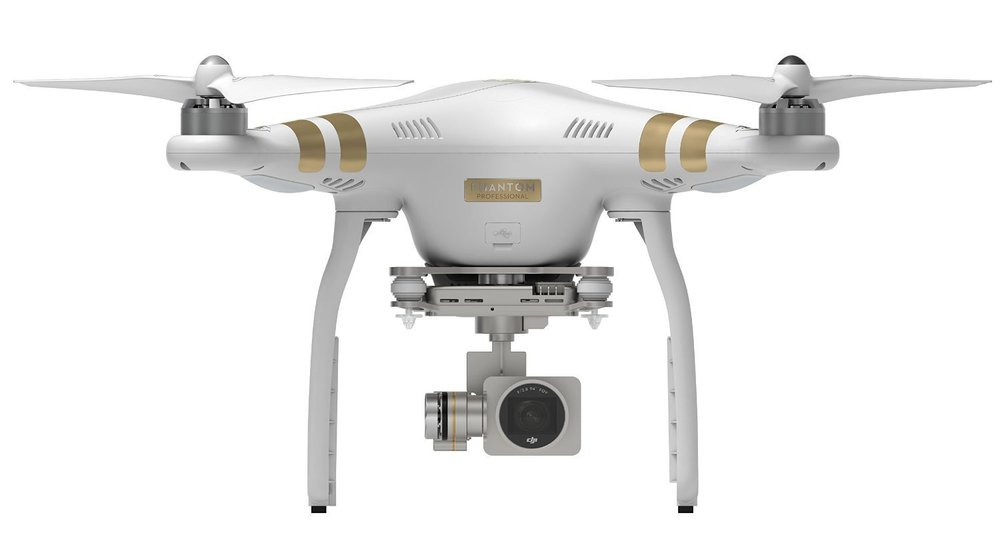 "Dji Phantom 3 Professional 4k UHD - 3-axis (pitch, roll, yaw)1/2.3"" CMOS Effective pixels: 12.4 M (total pixels: 12.76 M)Max Flight Time Approx 23 minutesMax Transmission: Distance FCC Compliant: 3.1 mi (5 km)CE Compliant: 2.2 mi (3.5 km)(Unobstructed, free of interferenceUHD: 4096x2160p 24/25, 3840x2160p 24/25/30FHD: 1920x1080p 24/25/30/48/50/60HD: 1280x720p 24/25/30/48/50/60"